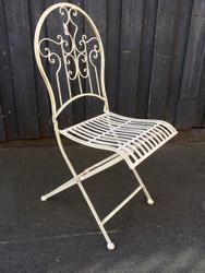 Rene Folding Wrought Iron Cafe Chair