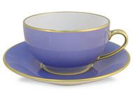 Limoges Legle Breakfast Cup & Saucer - Provencal Blue