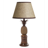Bermuda Pineapple Table Lamp - Antique Brass