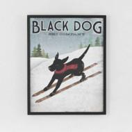 Framed Print: Black Dog Ski