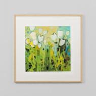 Framed Print: White Tulips 1
