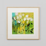 Framed Print: White Tulips 2
