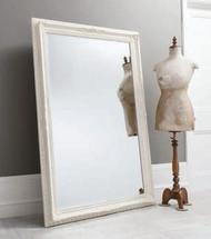 """Buckingham Mirror Vintage White 69x45"""""""" Gallery Direct"""""""""""