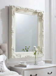 """Carved Louis Mirror Cream 47x35.5"""""""" Gallery Direct"""""""""""