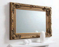 """Carved Louis Mirror Gold 47x35.5"""""""" Gallery Direct"""""""""""