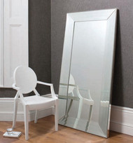 Abbey leaner mirror silver 65x31 gallery direct gallery for Mirror 72x36
