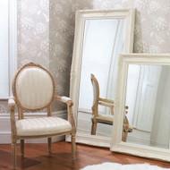 "Harrow Leaner Mirror Cream 67.5x33.5"""" Gallery Direct"""""