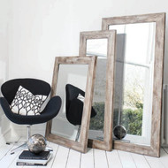 """Stanton Rustic Timber Mirror 44x32"""""""" Gallery Direct"""""""""""