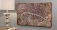 """Vintage London Map 36x22"""" Gallery Direct"""