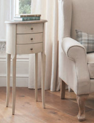 "Wallace Side Table 3 Draw 15.75x15.75x34"" Gallery Direct"