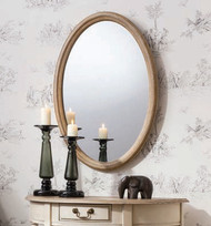 "Wiltshire Oval Mirror 31.5x21.5"""" Gallery Direct"""""