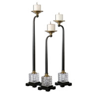 Rondure Candleholders - Set of 3 by Uttermost