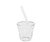 Glass Espresso Coffee Cup with Stirrer