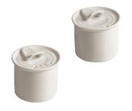 Porcelain Salt + Pepper Cellars