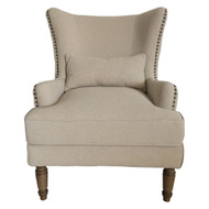 Contessa Wing Chair - Cool Grey