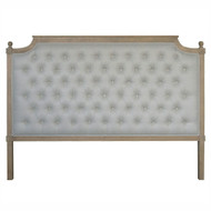 Francesca Tufted King Headboard - Natural Linen
