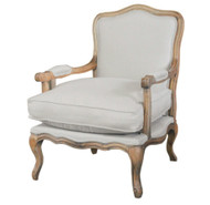 Henrietta Armchair - Natural Oak/Linen