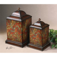 Colorful Flowers Canisters - Set of 2 by Uttermost