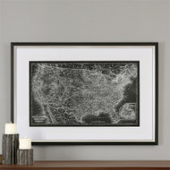 Custom United States Map a Prints Framed by Uttermost