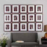 Abstract Marsala Set of 15 a Prints Framed by Uttermost