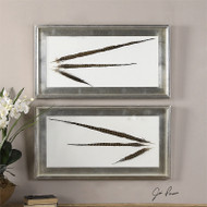 Pheasant Feathers Set of 2 a Wall Art 3D by Uttermost