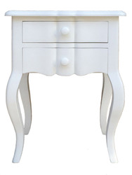 Henriette 2 Drawer Bedside (Antique White)
