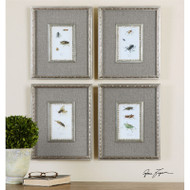 Insect Study Set of 4 a Prints Framed by Uttermost