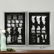 Architectural Elements Set of 2 a Prints Framed by Uttermost