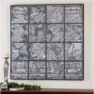 Antique Paris Map a Prints Framed by Uttermost