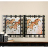 Horse Fresco Set of 2 a Prints Framed by Uttermost