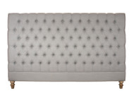 Marquis Upholstered King Headboard (Dove Grey)