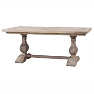 Provincial Trestle Dining Table 180cm - Size: 76H x 180W x 80D (cm)