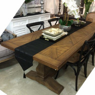 Cambridge Parquet Trestle Dining Table 240cm