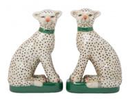 Cheetah Porcelain Bookends