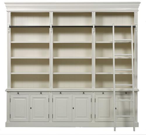 Bella House Classic 6 Door Bookcase + Ladder