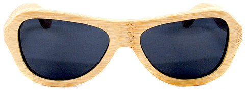 Rockaway Butterfly Polarized Natural Bamboo Wooden Sunglasses Straight