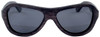 Rockaway Butterfly Polarized Ebony Wooden Frame Sunglasses Straight