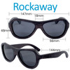 Rockaway Butterfly Ebony Wood Sunglasses Dimensions Size
