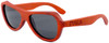 Rockaway Butterfly Polarized Red Rosewood Sunglasses Side
