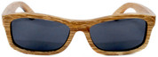 Whitehaven Rectangular Polarized Duwood Sunglasses Straight