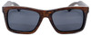 Cloudbreak Polarized Square Brown Bamboo Wood Sunglasses Straight