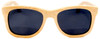 Coronado Polarized Wayfarer Style Natural Bamboo Wooden Frame Sunglasses Straight