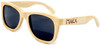Coronado Polarized Wayfarer Style Natural Bamboo Wooden Frame Sunglasses Side