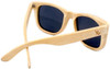 Coronado Polarized Wayfarer Style Natural Bamboo Wooden Frame Sunglasses Back