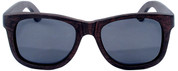 Coronado Wayfarer Style Polarized Ebony Wooden Sunglasses Straight