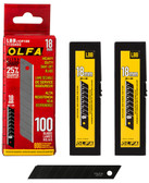 OLFA 18MM Black Ultra Sharp Snappoff Blades- 100PK