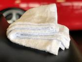 """Double Plush Ultra Premium White Edgeless Towel 470gsm (16"""" x 16"""") - 3/pk"""