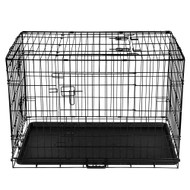 36inch Portable Folding  Metal Pet Cage - Black