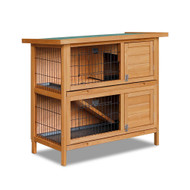 2 Storey Wooden Hutch Coop with Slide Out Tray