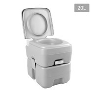 20L Portable Outdoor Toilet with Carry Bag - Grey